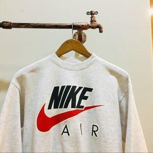 Grey Vintage 90s Nike Sweatshirt - Swoosh